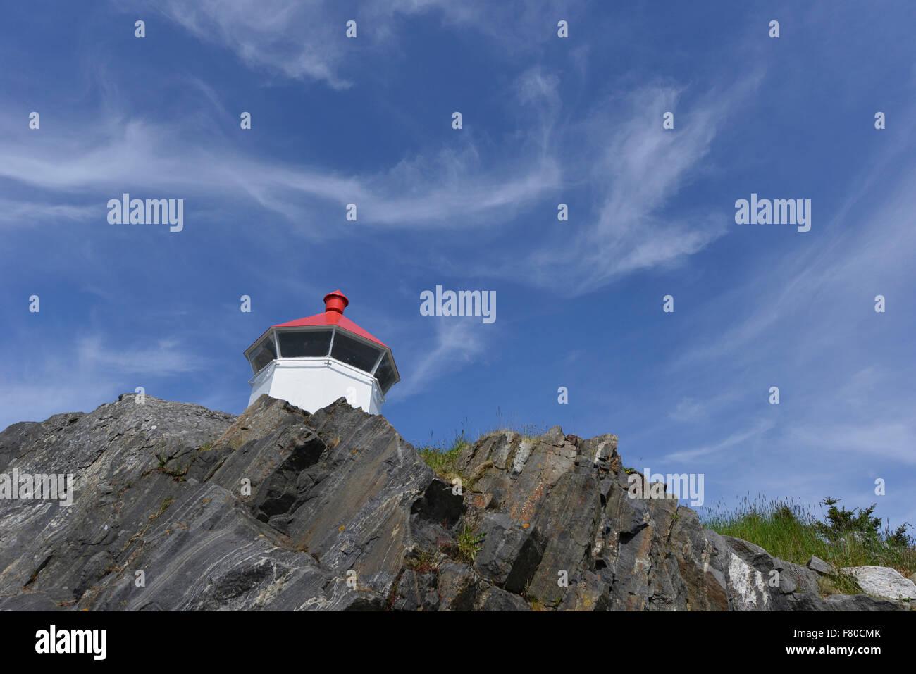 lighthouse, møre og romsdal, norway - Stock Image