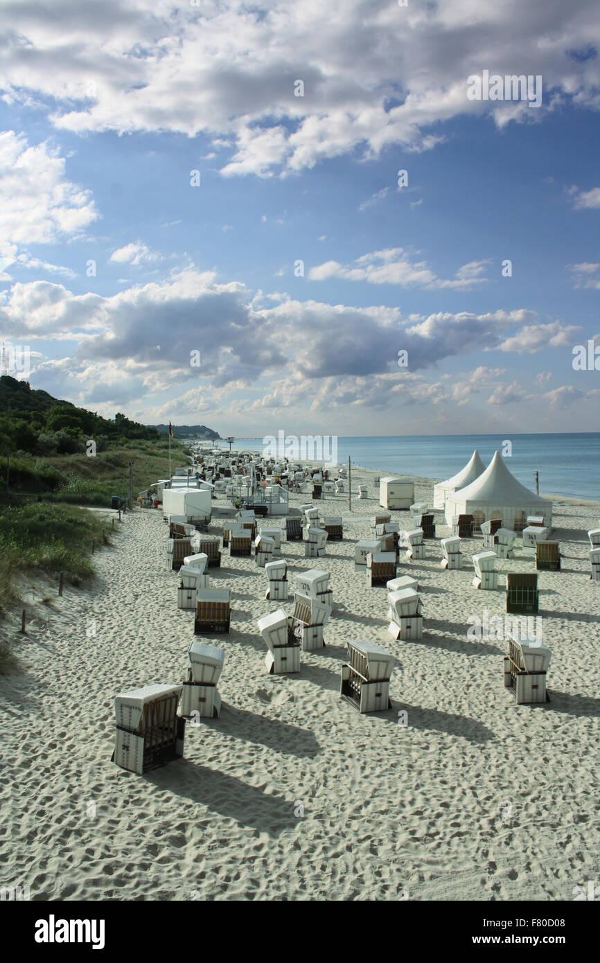 Strandkörbe Ostsee - Stock Image
