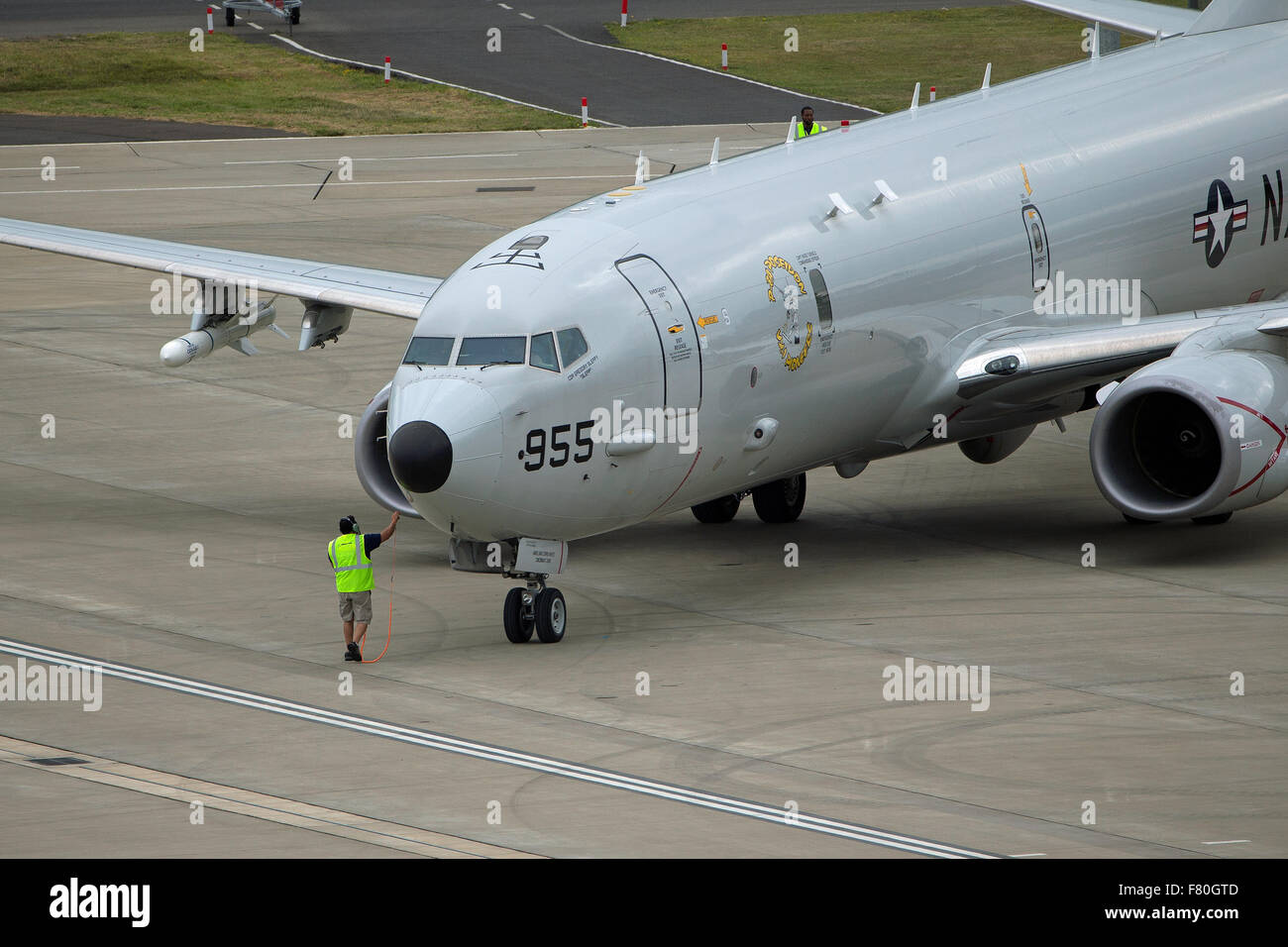 Boeing P-8 Orion maritime patrol aircraft - Stock Image