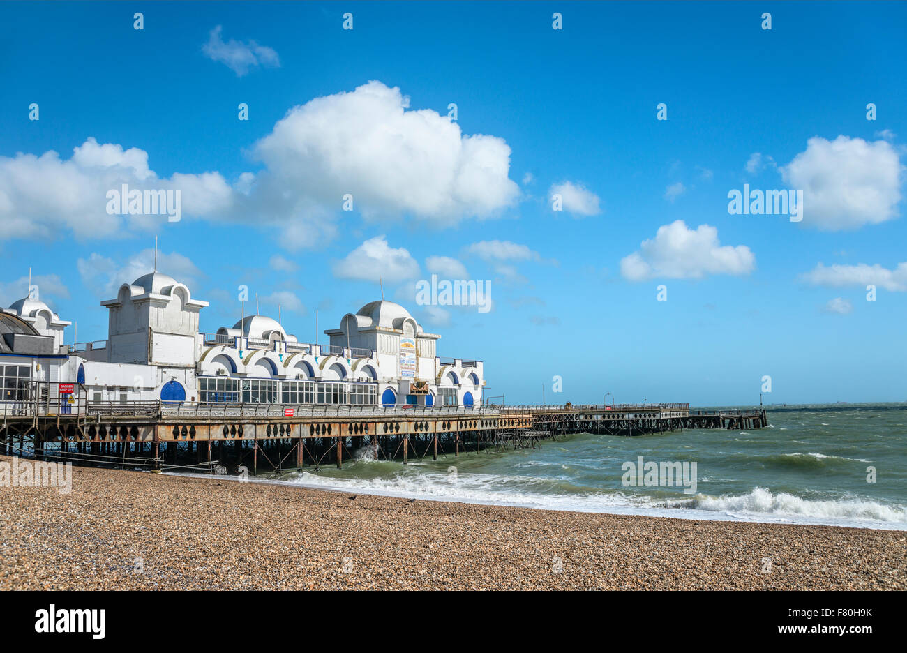 Historical South Parade Pier, Portsmouth, Hampshire, England, United Kingdom - Stock Image