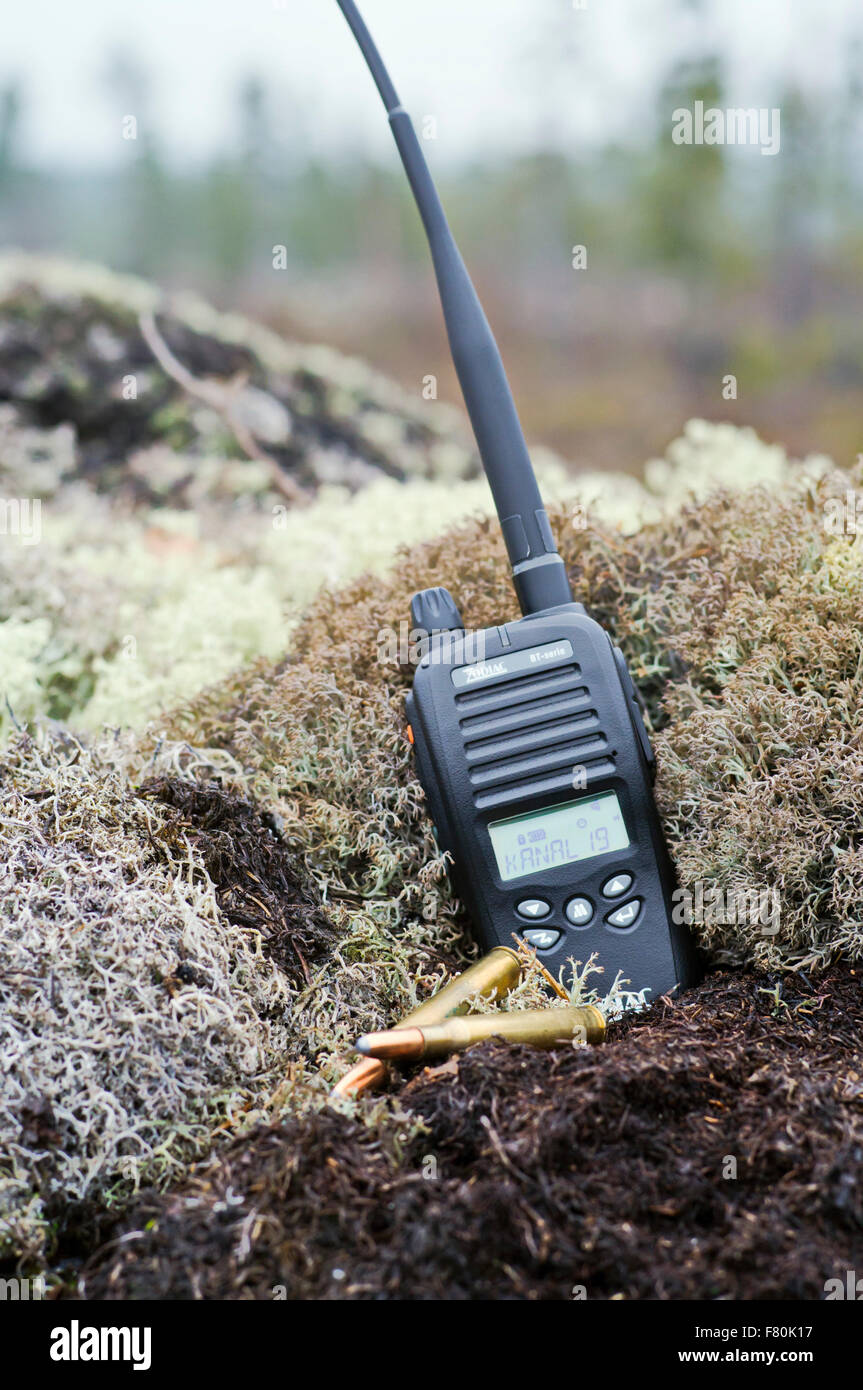 Hunters walkie-talkie - Stock Image