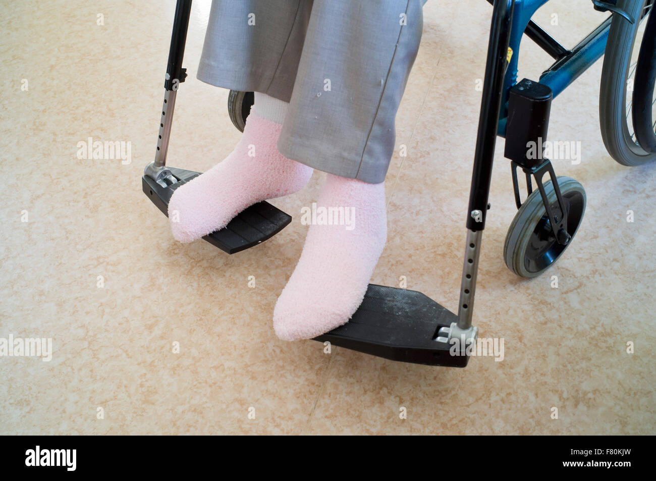 Disabled woman - Stock Image