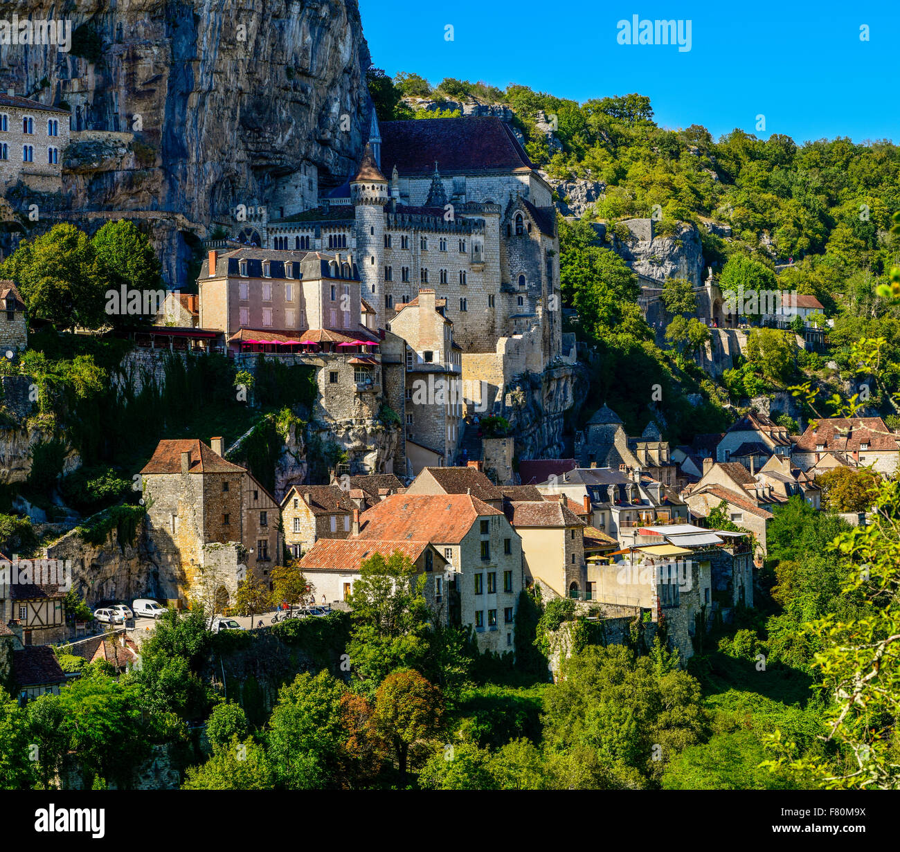 Rocamadour, Lot, Midi-Pyrenees, France - Stock Image