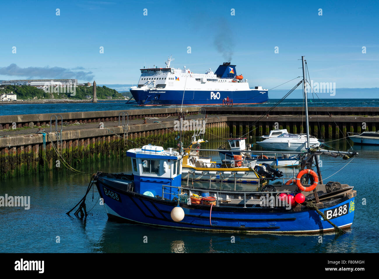 Port Muck Harbour,  Whitehead; Island Magee Northern ireland - Stock Image