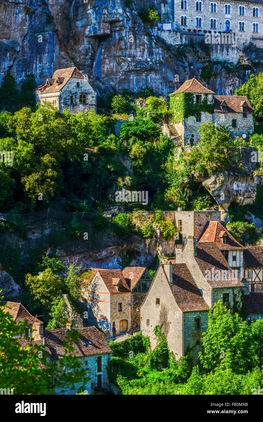 Rocamadour, Lot, Midi-Pyrenees, France Stock Photo