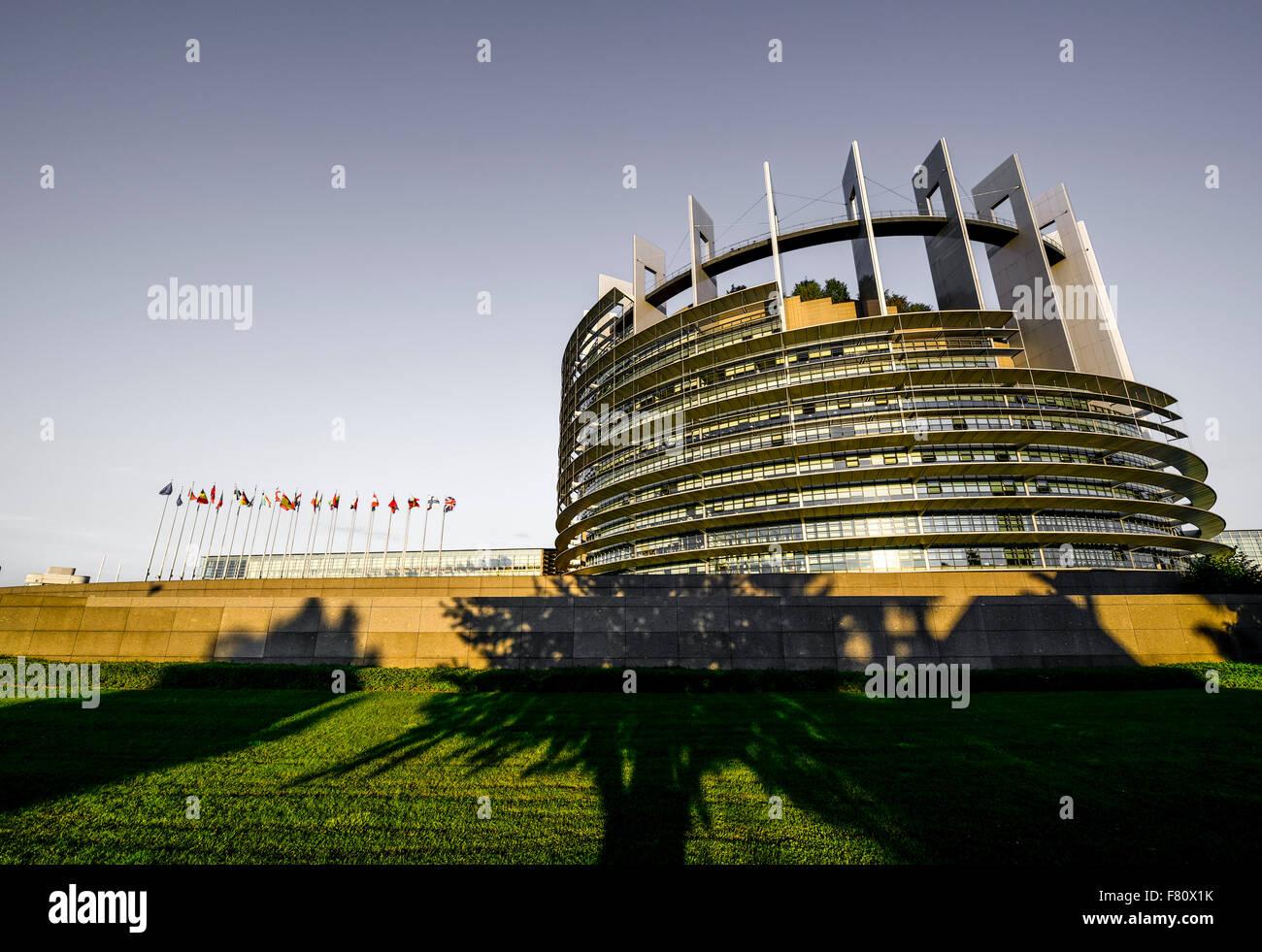 EU parliament, Strasbourg, Alsace, France - Stock Image