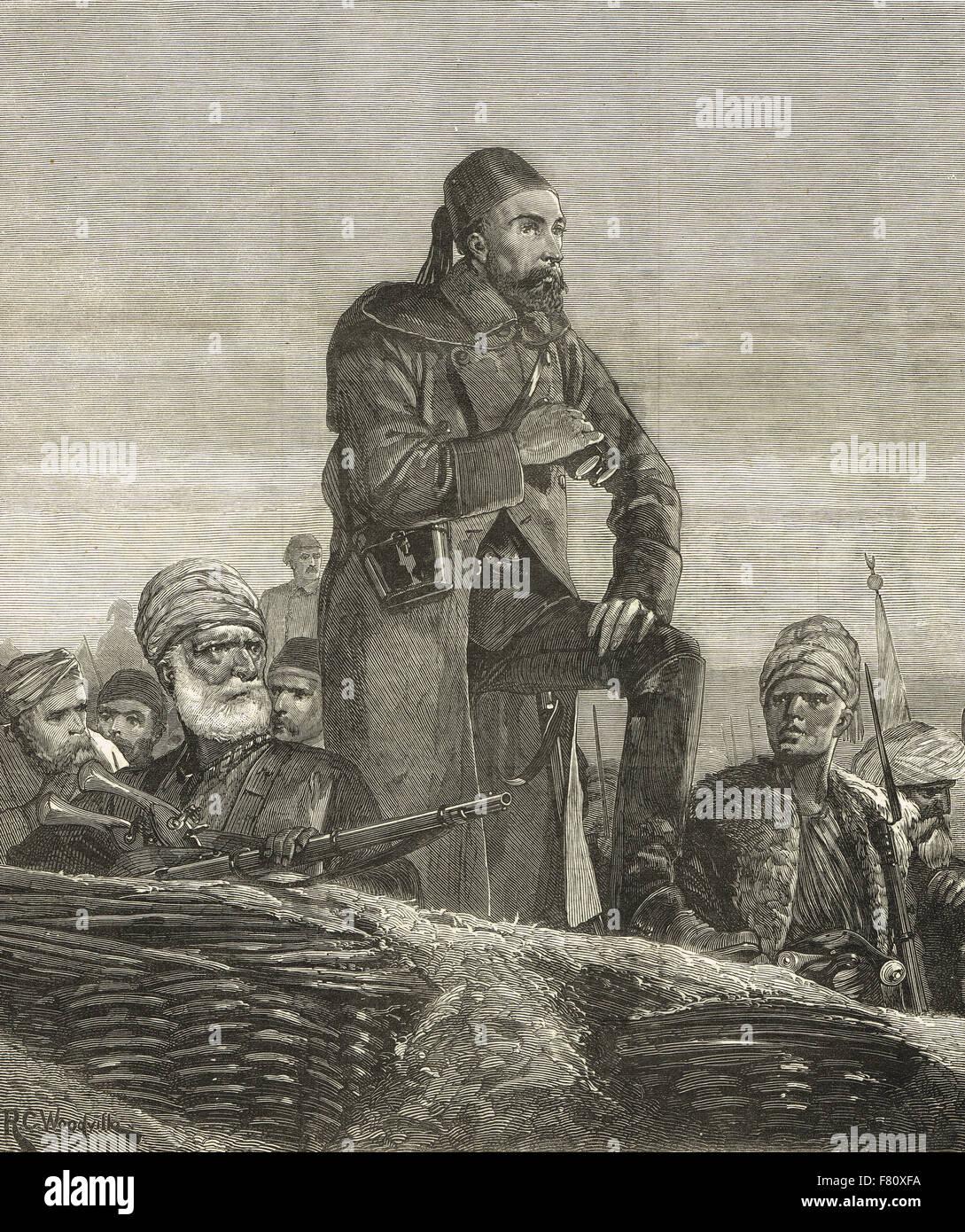 Osman Pasha Ottoman hero of  the siege of Plevna 1877 - Stock Image