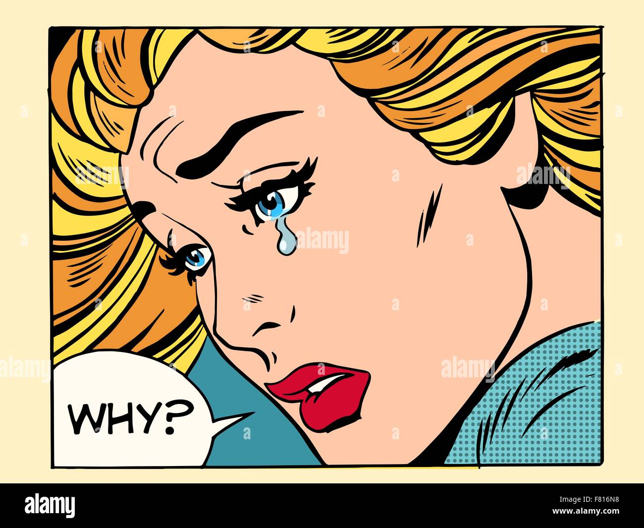 Why girl crying - Stock Vector
