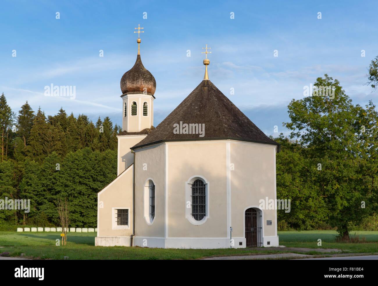 Nikolauskapelle, chapel, Geretsried, Upper Bavaria, Bavaria, Germany Stock Photo