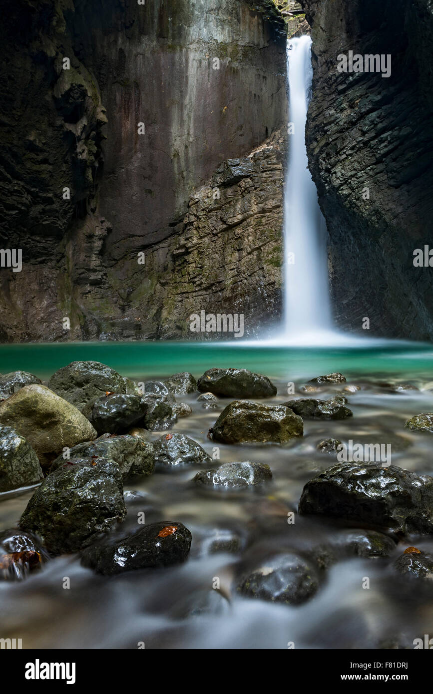 Kozjak waterfall, Triglav National Park, Slovenia - Stock Image