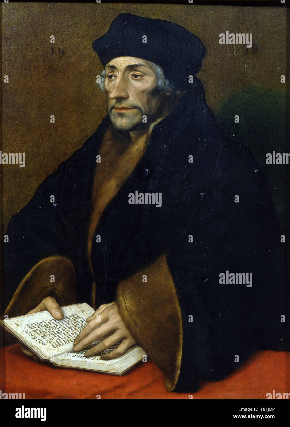Hans Holbein the Younger - Erasmus of Rotterdam - Stock Image