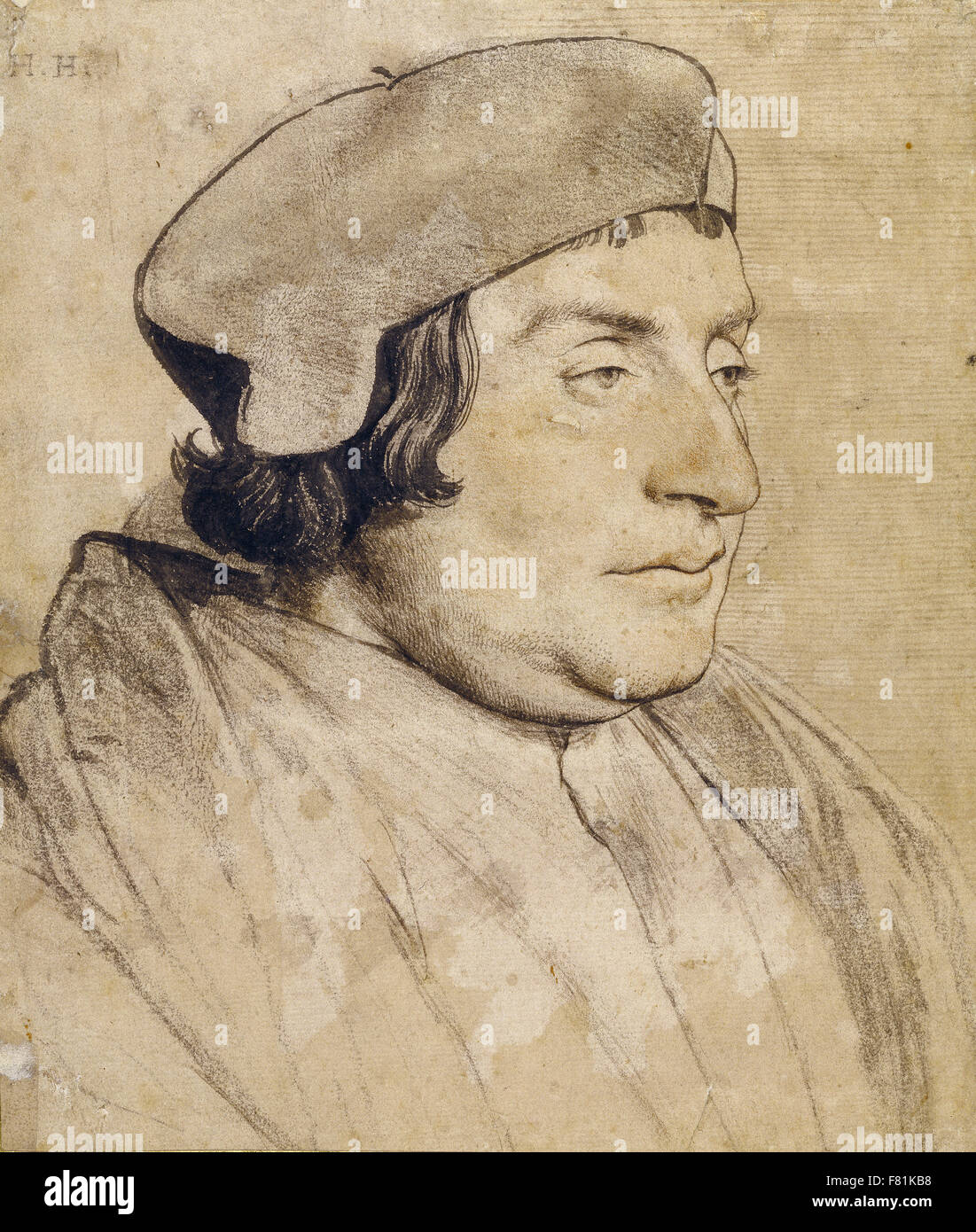 Hans Holbein the Younger - Portrait of a Scholar or Cleric - Stock Image