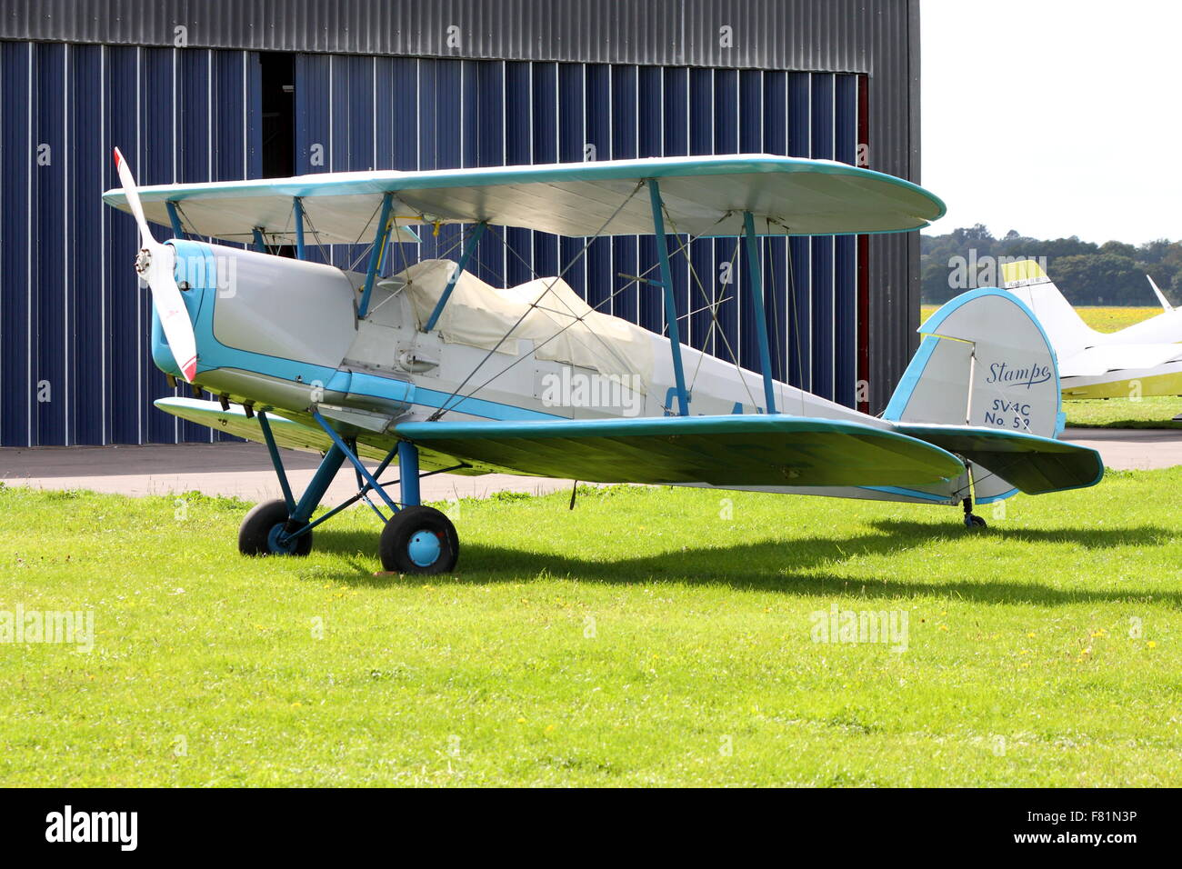 Stampe SV.4 at White Waltham Airfield - Stock Image
