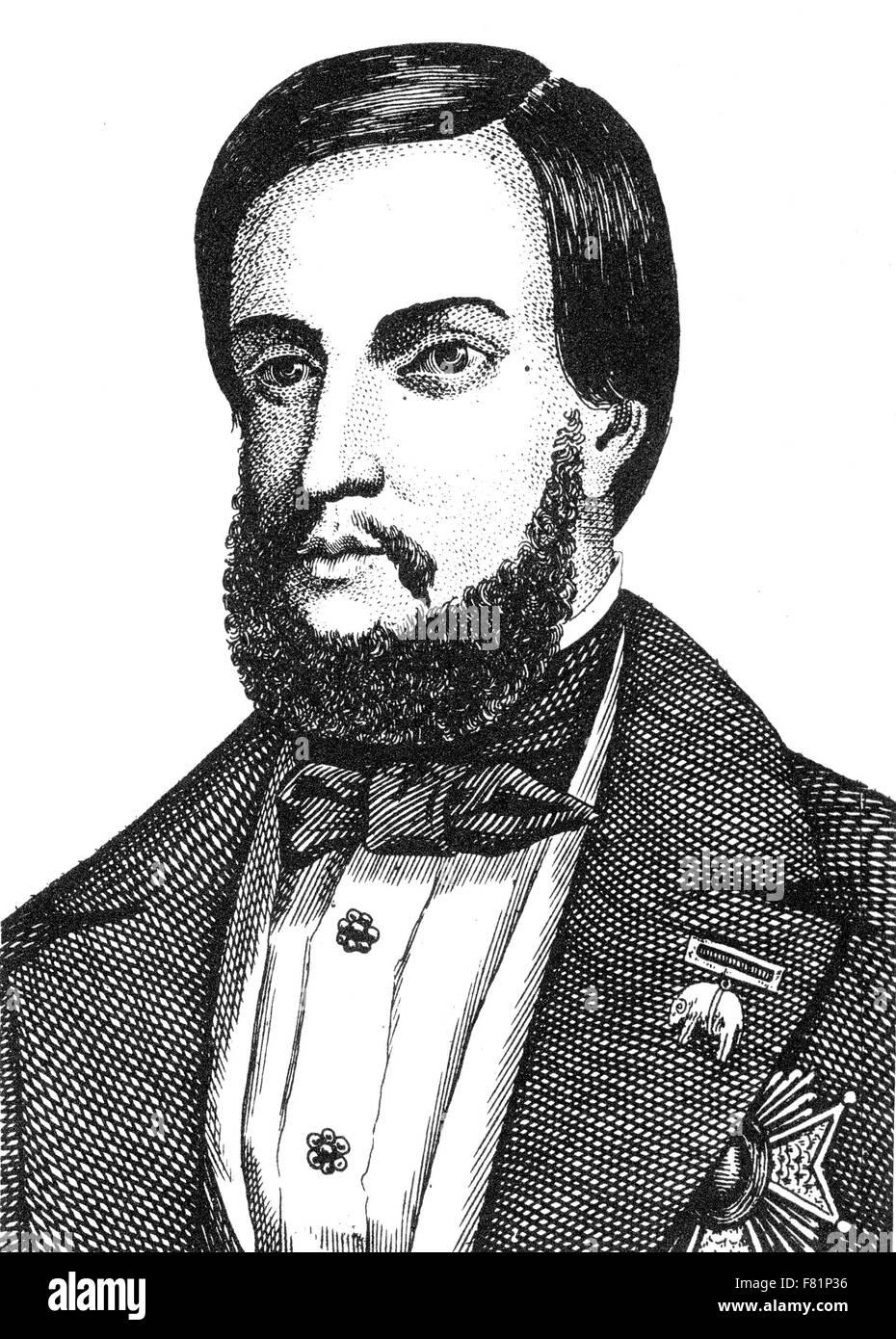 EMPEROR PEDRO II OF BRAZIL (1825-1891) - Stock Image