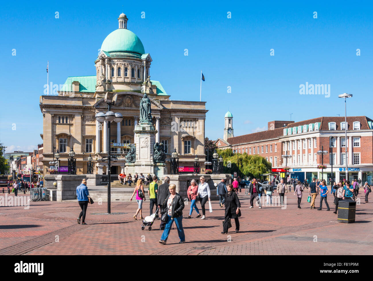 Hull City Hall in Queen Victoria Square Kingston upon Hull Yorkshire England UK GB EU Europe - Stock Image