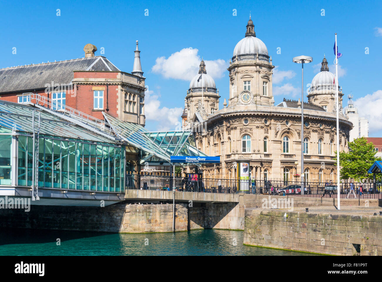 Close up view of Prince's Quay shopping centre and Maritime museum Kingston upon Hull Yorkshire England UK GB - Stock Image