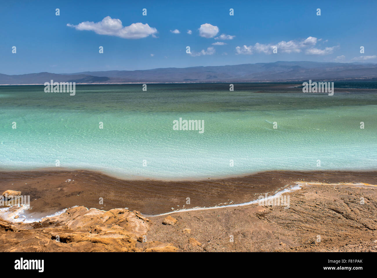 Lake Assal, Djibouti - Stock Image