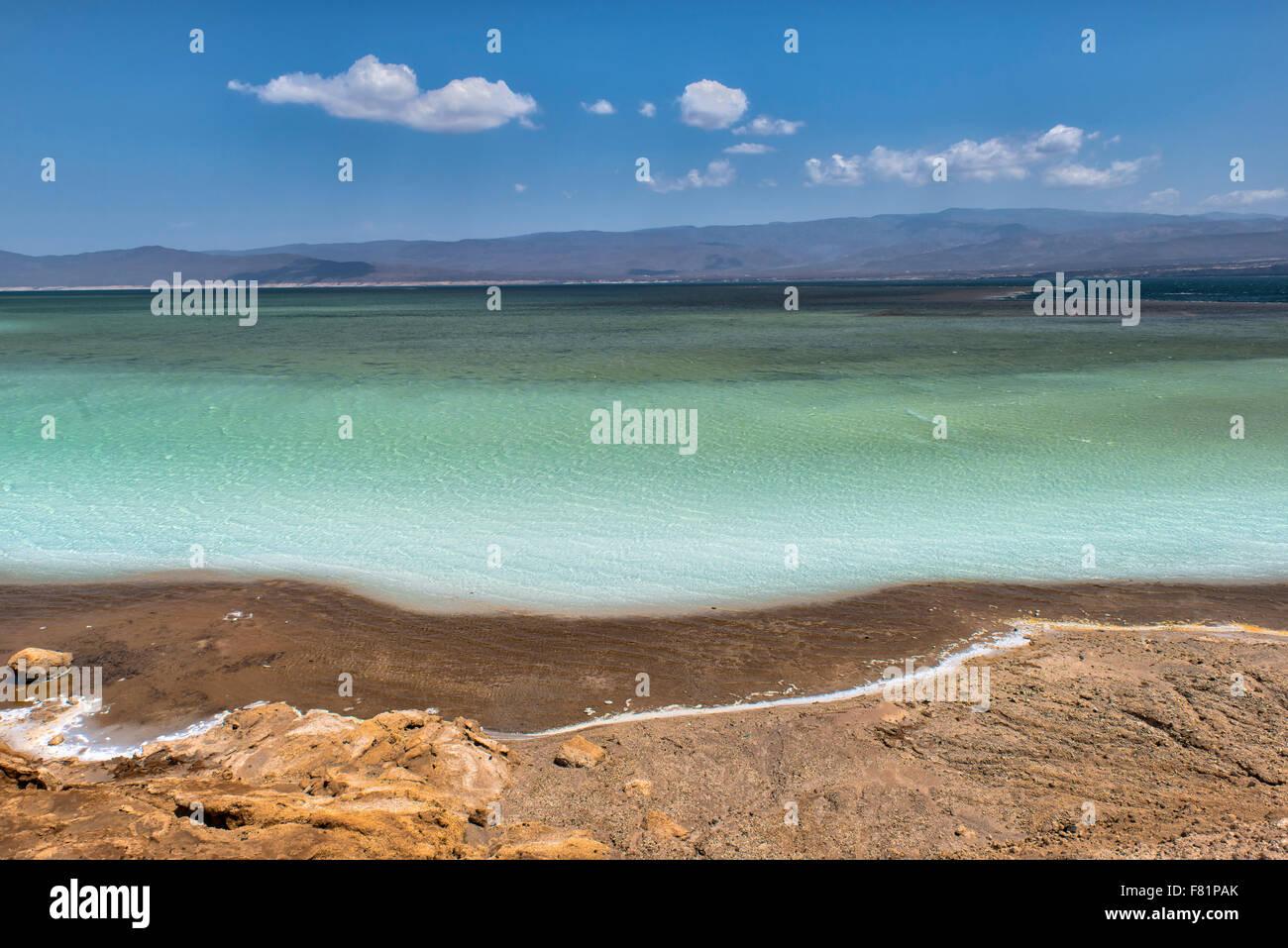 Lake Assal, Djibouti Stock Photo