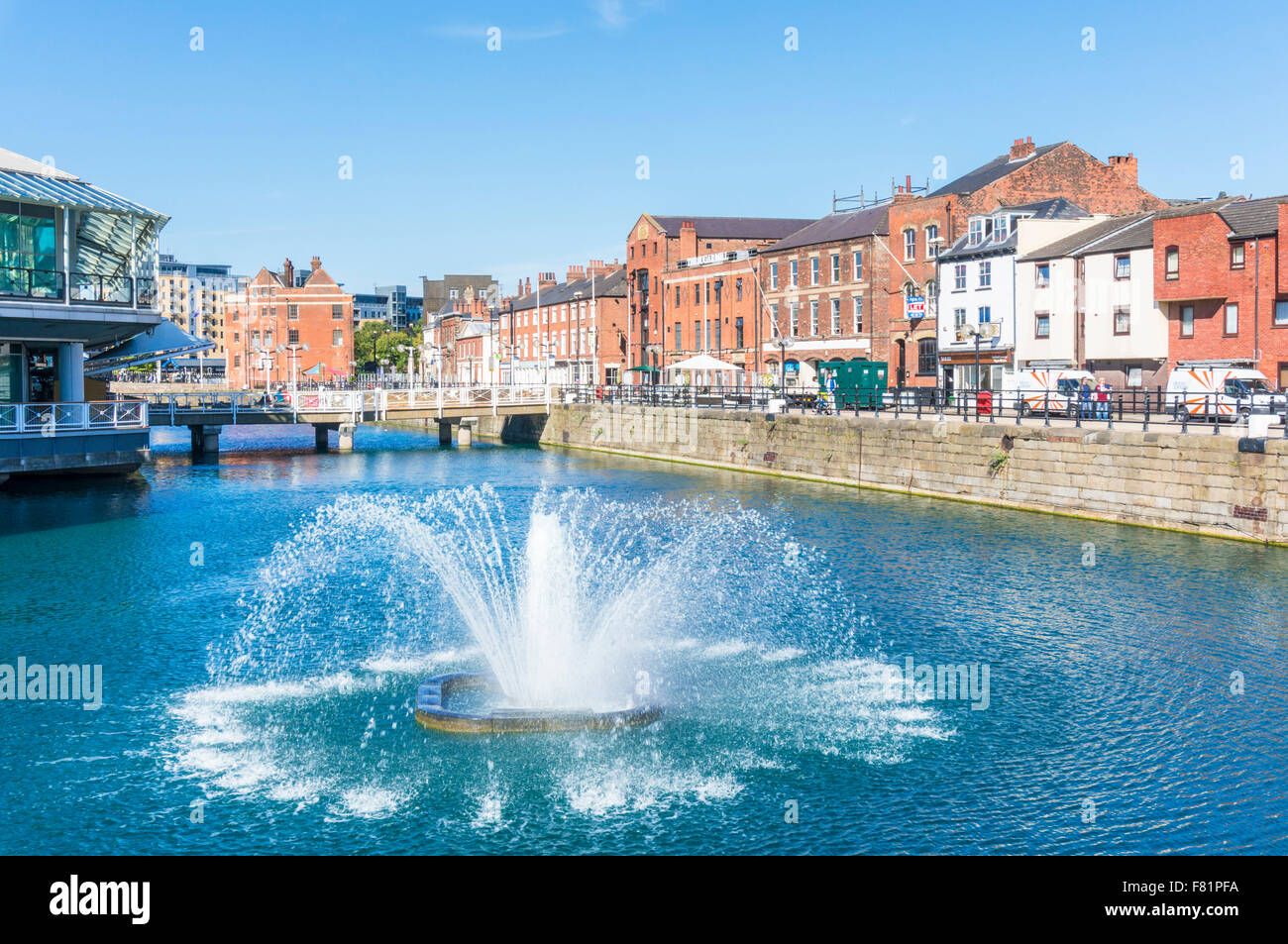 Exterior of Prince's Quay shopping centre built over Prince's dock Kingston upon Hull Yorkshire England - Stock Image
