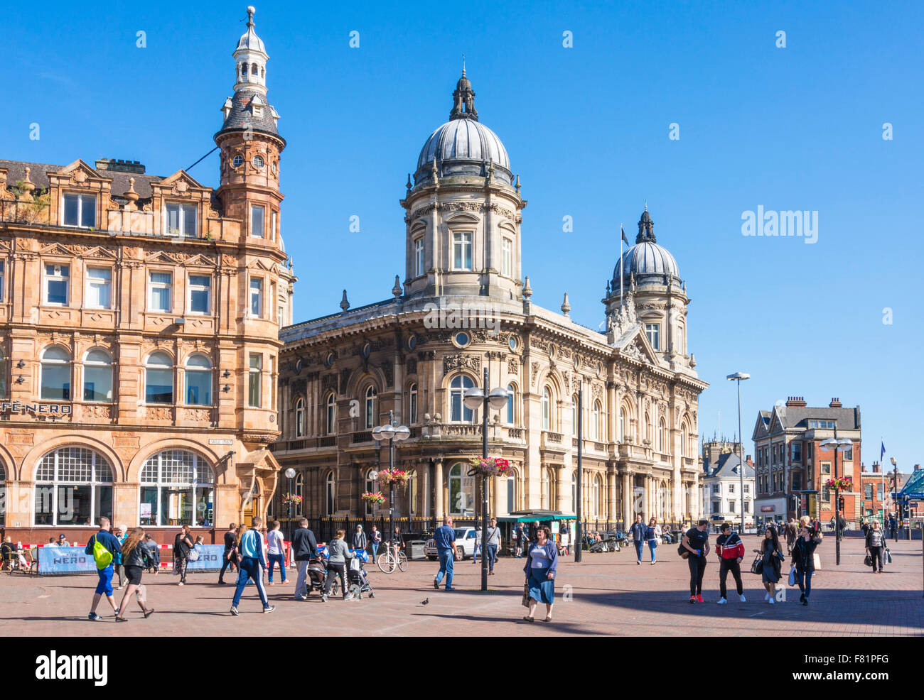 Hull Maritime Museum in the Dock Offices building Queen Victoria square Kingston upon Hull Yorkshire England UK - Stock Image