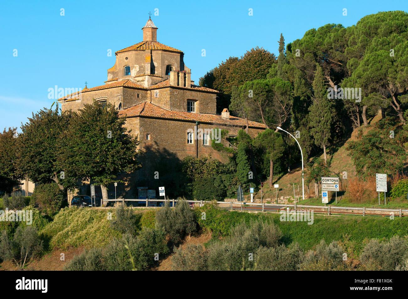 Church of Santo Spirito, Cortona, Tuscany, Italy - Stock Image
