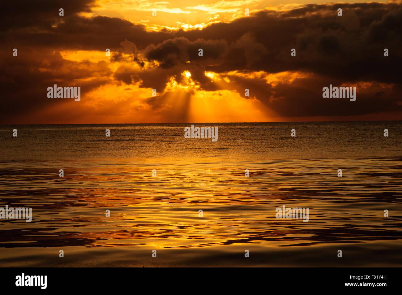 A Tanzanian sunset - Stock Image