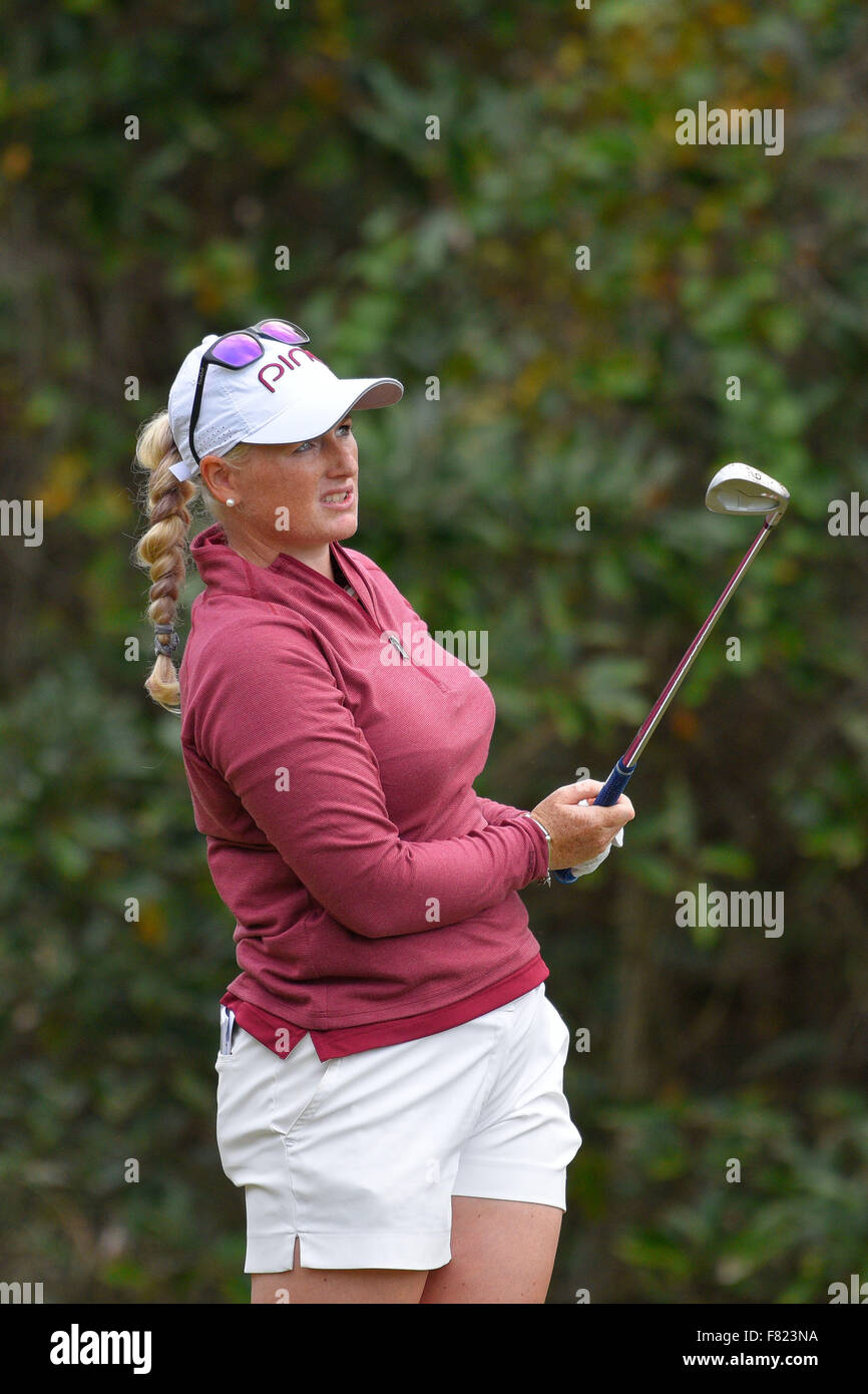Daytona Beach, FL, USA. 4th Dec, 2015. Hannah Collier during the third round of the LPGA Qualifying Tournament Stage - Stock Image