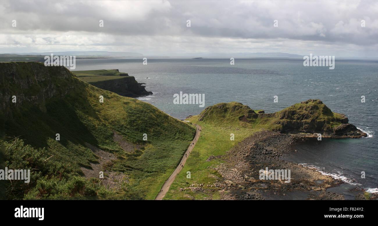 Headland near Giant's' Causeway, Antrim, Northern Ireland - Stock Image