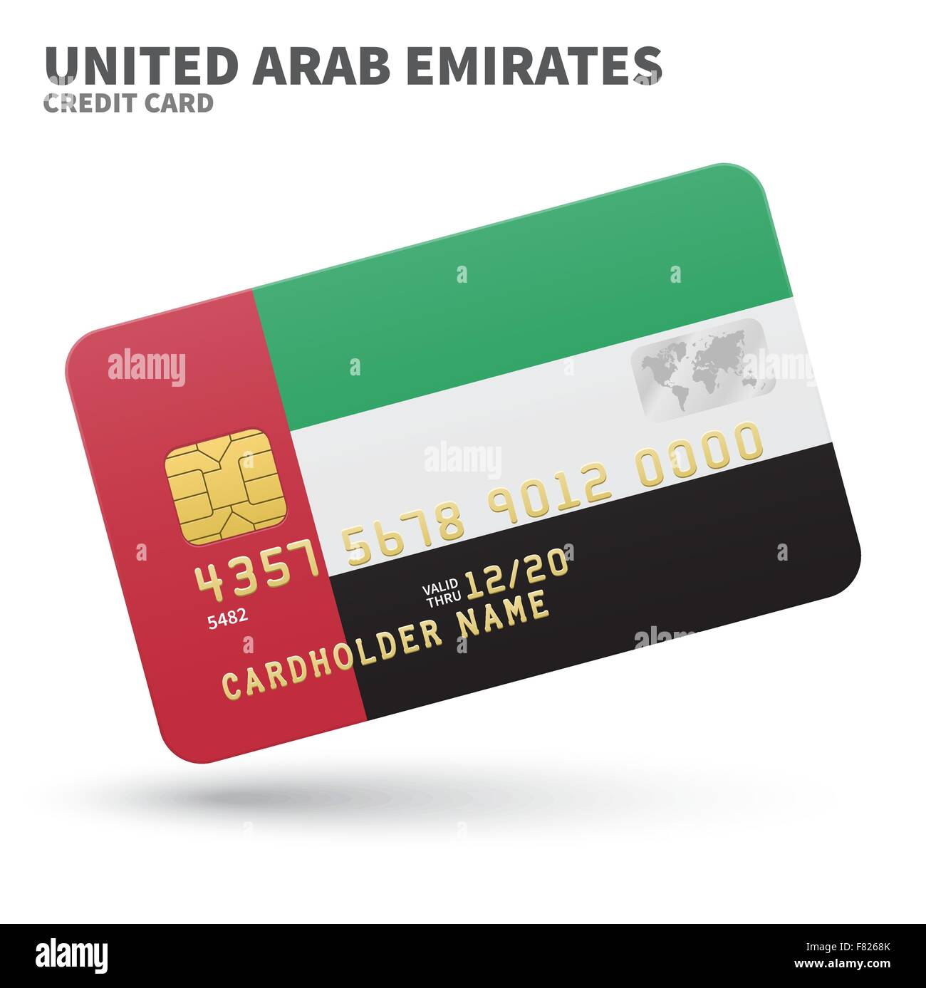 Credit card with united arab emirates flag background for bank stock credit card with united arab emirates flag background for bank presentations and business isolated on white colourmoves