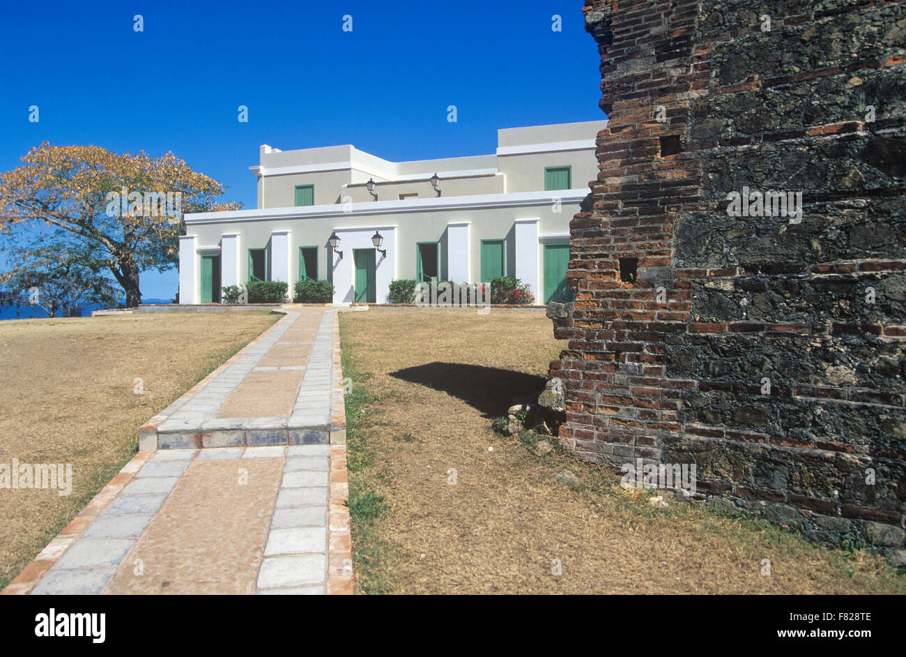 Fortin Conde de Mirasol was the last Spanish fortress built in the New world, Isabel Segunda, Vieques Island, Puerto Stock Photo