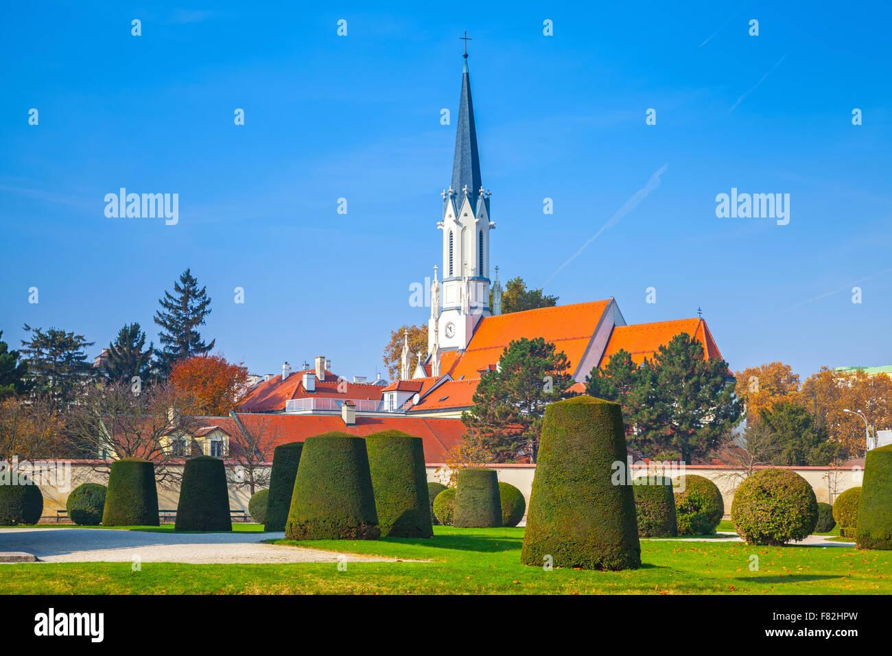 Catholic parish church Maria Hietzing near Schonbrunn palace of Vienna, Austria - Stock Image