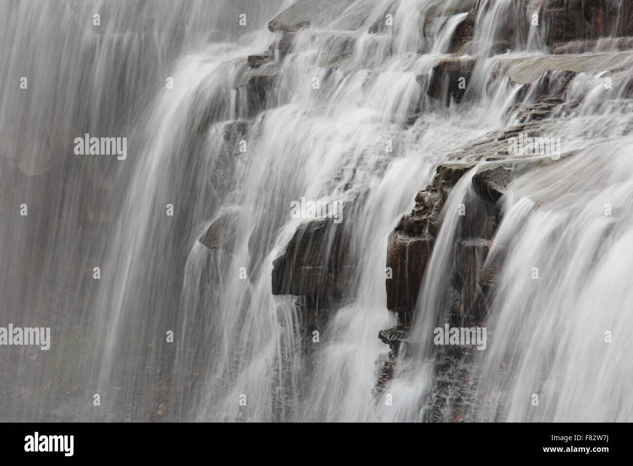 Details of Brandywine Falls, Cuyahoga Valley National Park, Ohio - Stock Image