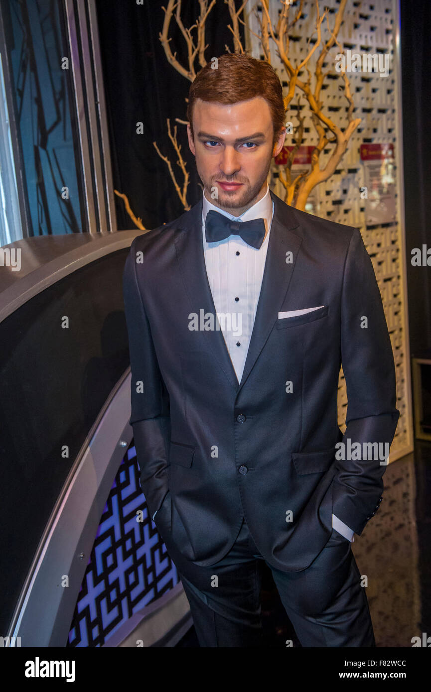 f9c85f5ba7e403 A waxwork of Justin Timberlake at The Madame Tussauds museum in Las Vegas -  Stock Image