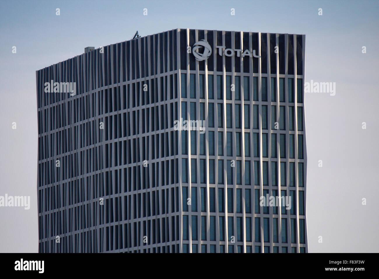die neue Zentrale des Total Konzerns, Berlin-Mitte. - Stock Image