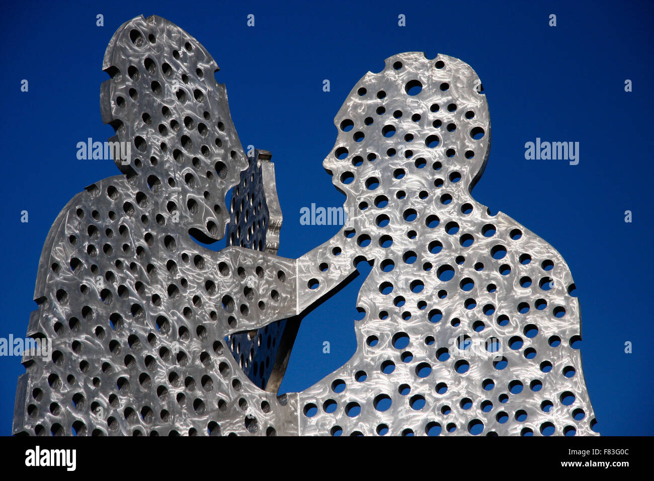 Molecular Men, Spree, Berlin-Treptow. - Stock Image