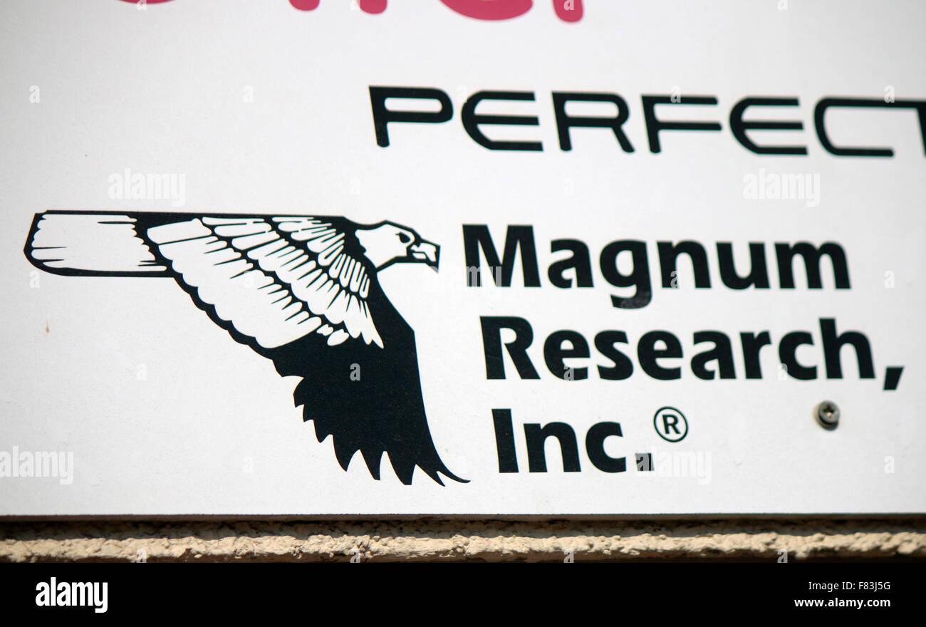 Markennamen: 'Magnum Research Inc', Berlin. - Stock Image
