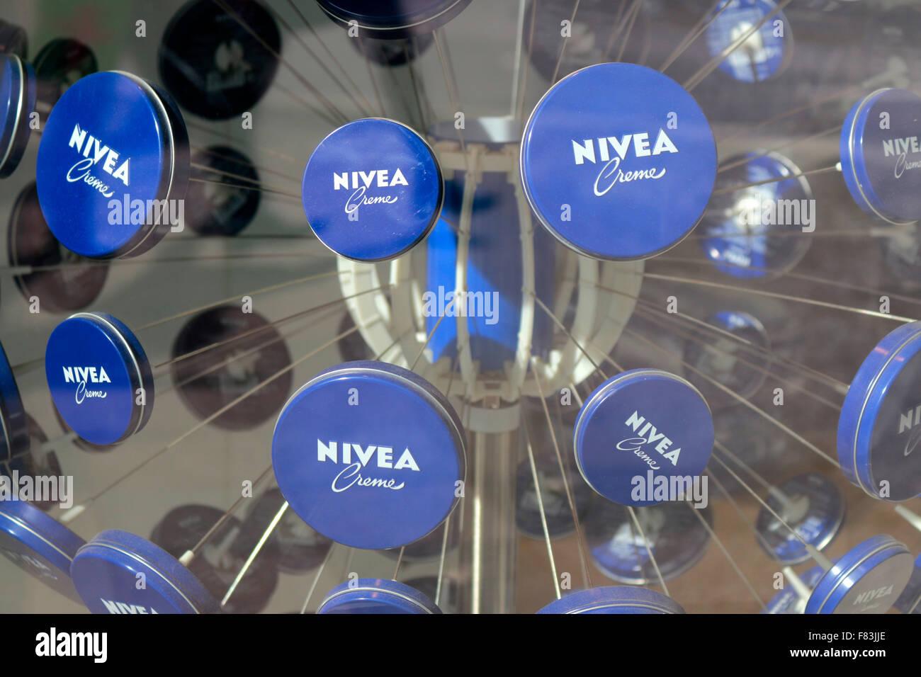 "Markennamen: ""Nivea"", Berlin. Stock Photo"
