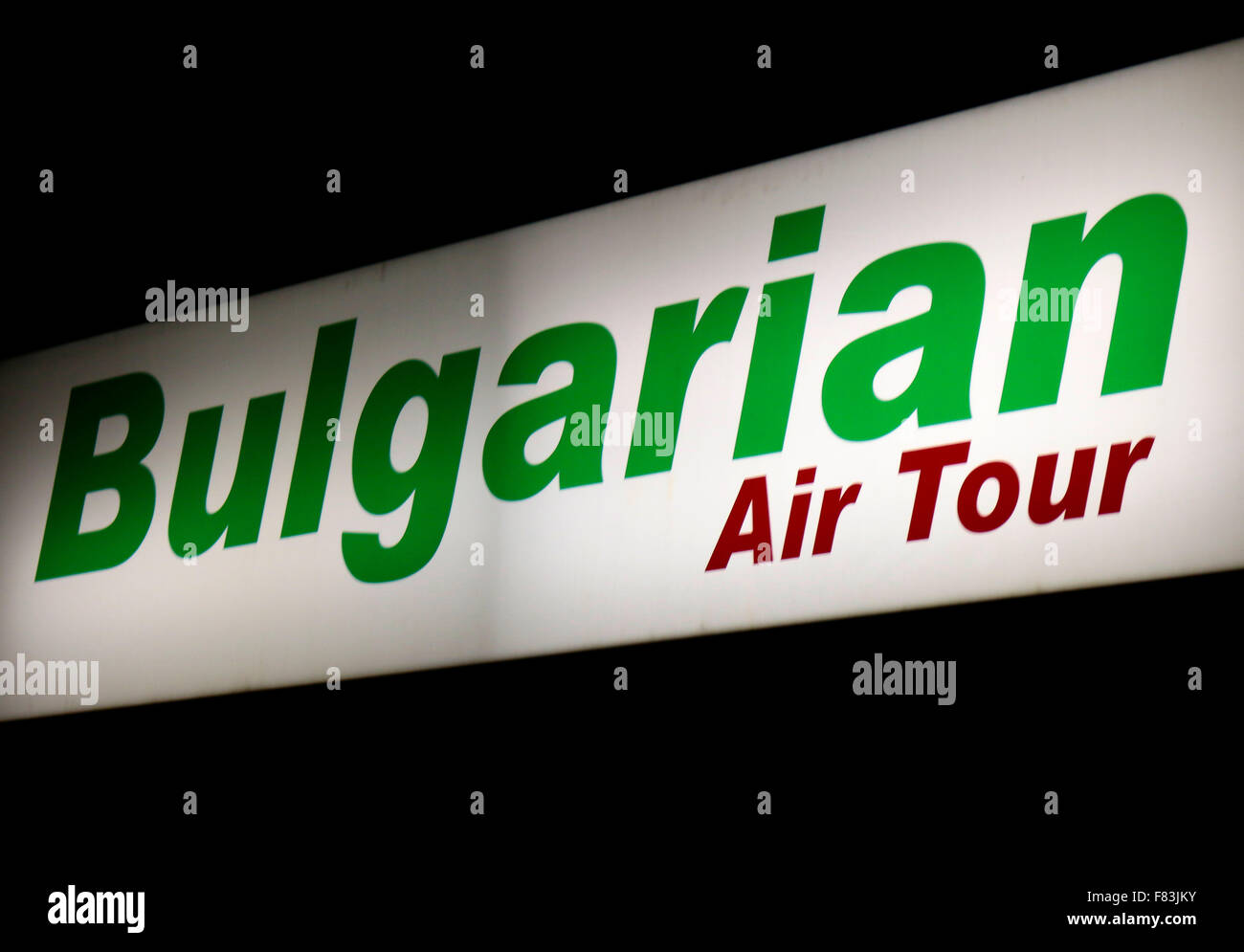 Markennamen: 'Bulgarian Air Tour', Berlin. - Stock Image