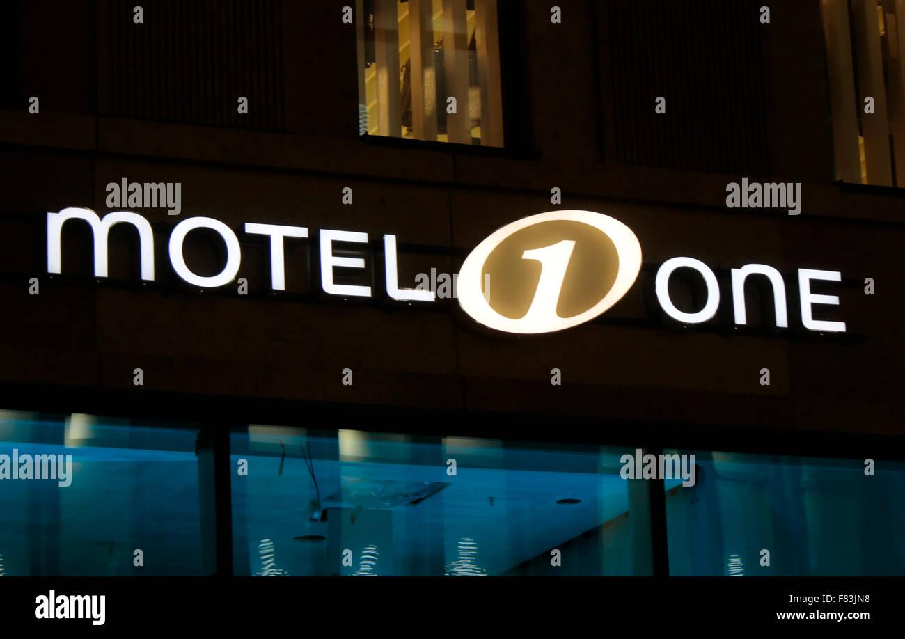 Markennamen: 'Motel One', Berlin. - Stock Image