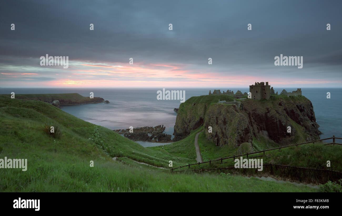 Dunnottar Castle at Sunrise - Stock Image