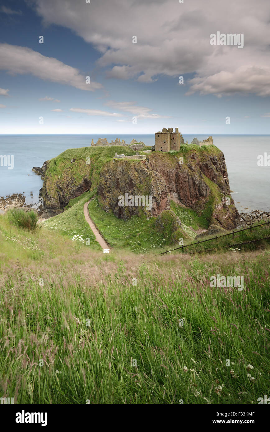 Dunnottar Castle a late afternoon - Stock Image