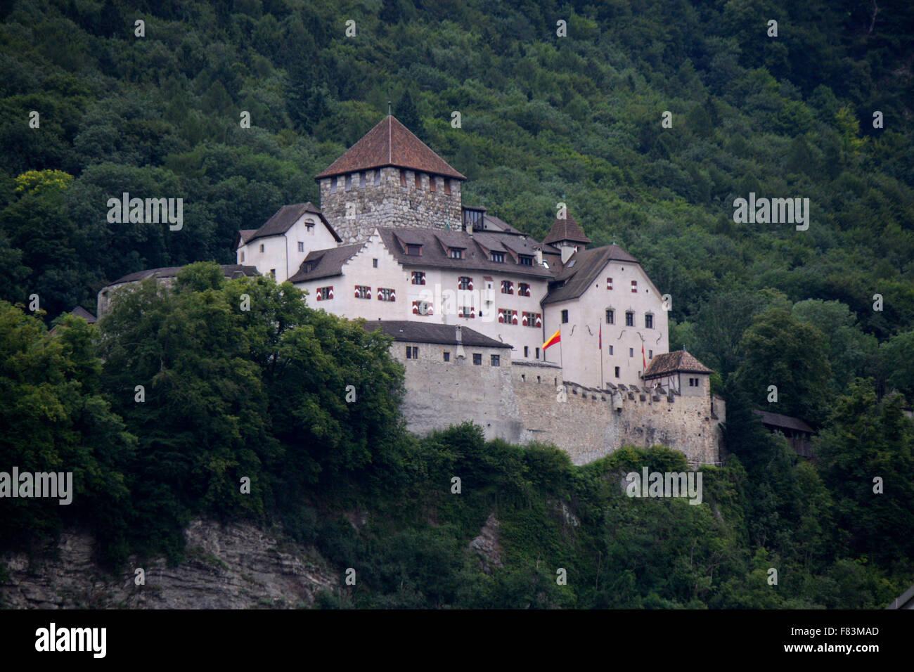 die Burg Liechtenstein, Vaduz, Liechtenstein. - Stock Image