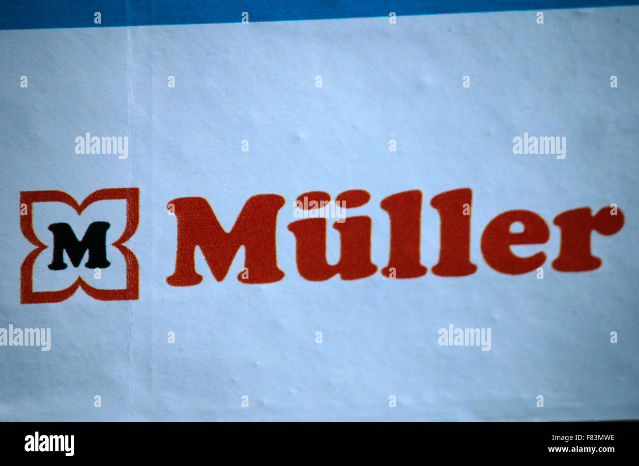 Markennamen: 'Mueller', Berlin. - Stock Image