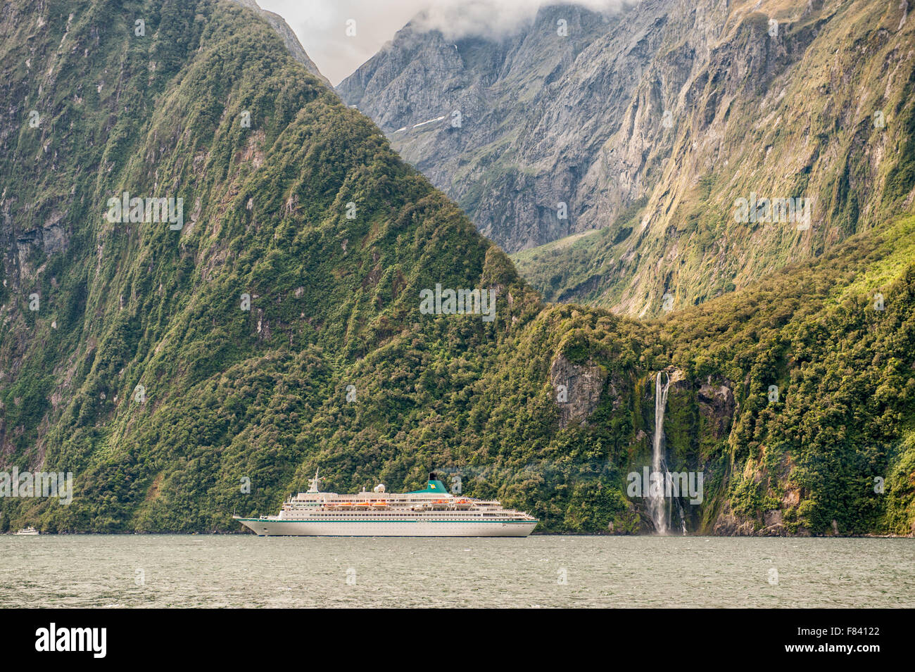Milford sound, Fiordland National Park, South Island, New Zealand - Stock Image