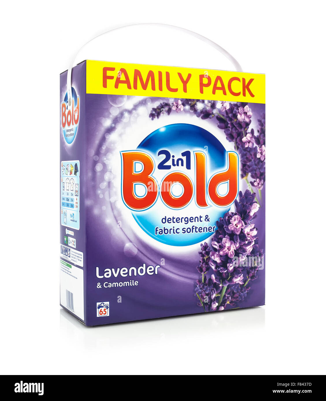 Family Pack of Bold 2 In 1 Lavender & Camomile Detergent and Fabric Softener - Stock Image