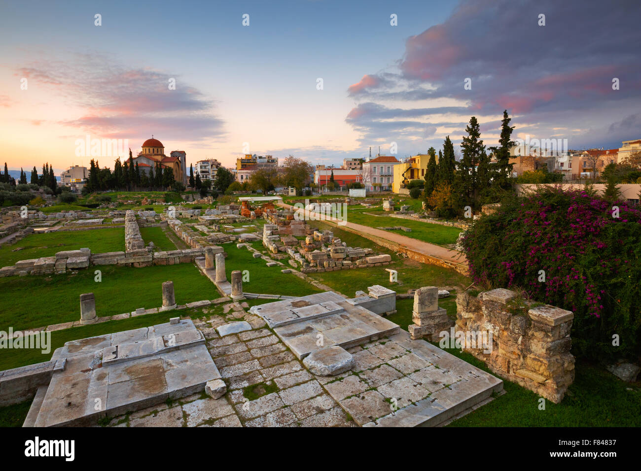 Archaeological site of Kerameikos nearby the ancient Agora in Athens. - Stock Image