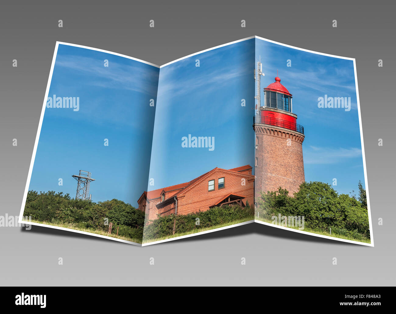 The lighthouse Bastorf is located at the Baltic Sea, Rostock, Mecklenburg-Western Pomerania, Germany, Europe - Stock Image