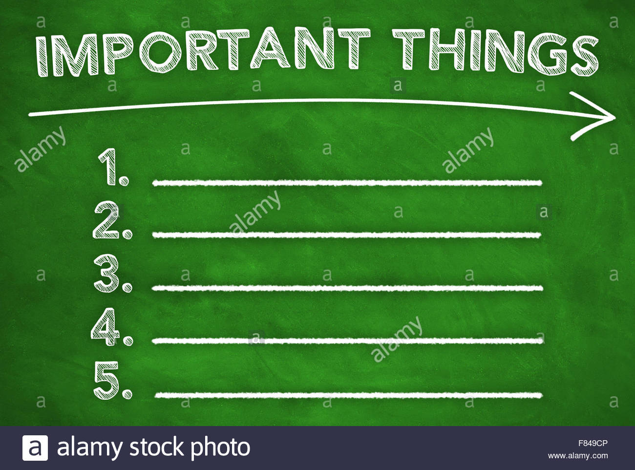 Important Things - Stock Image