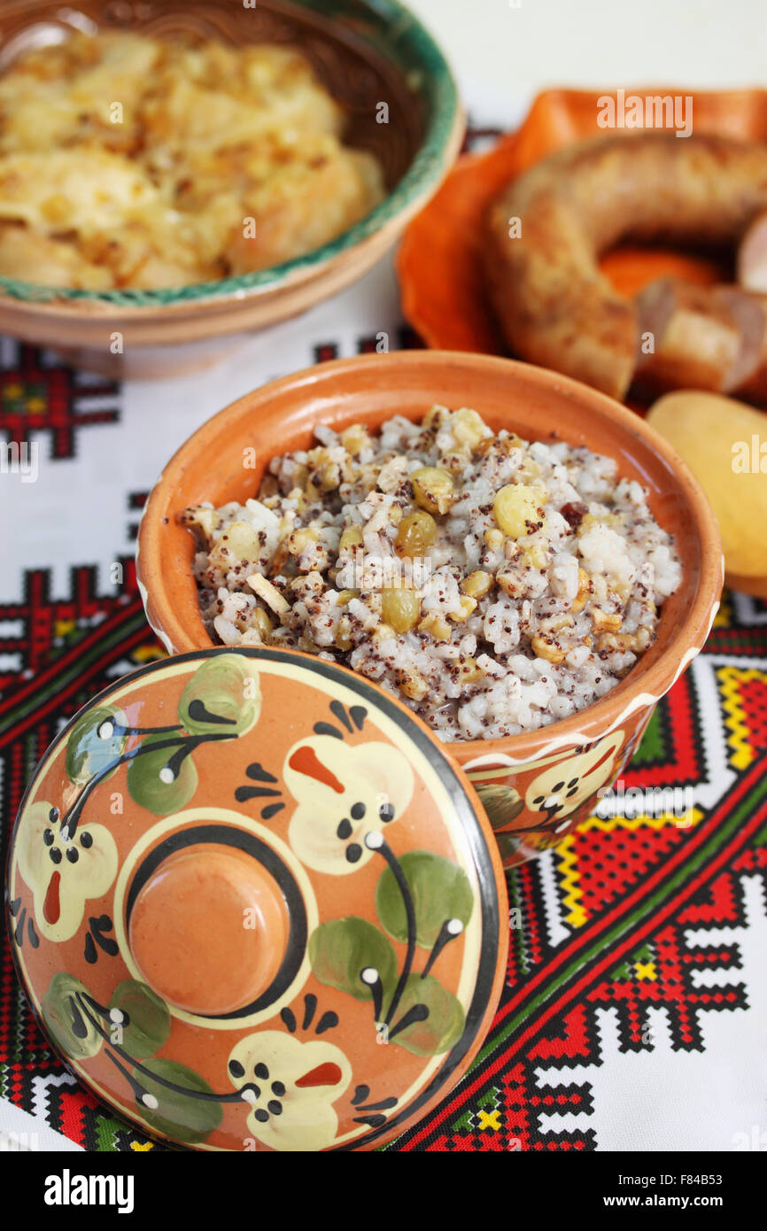 traditional kutia dish - Stock Image