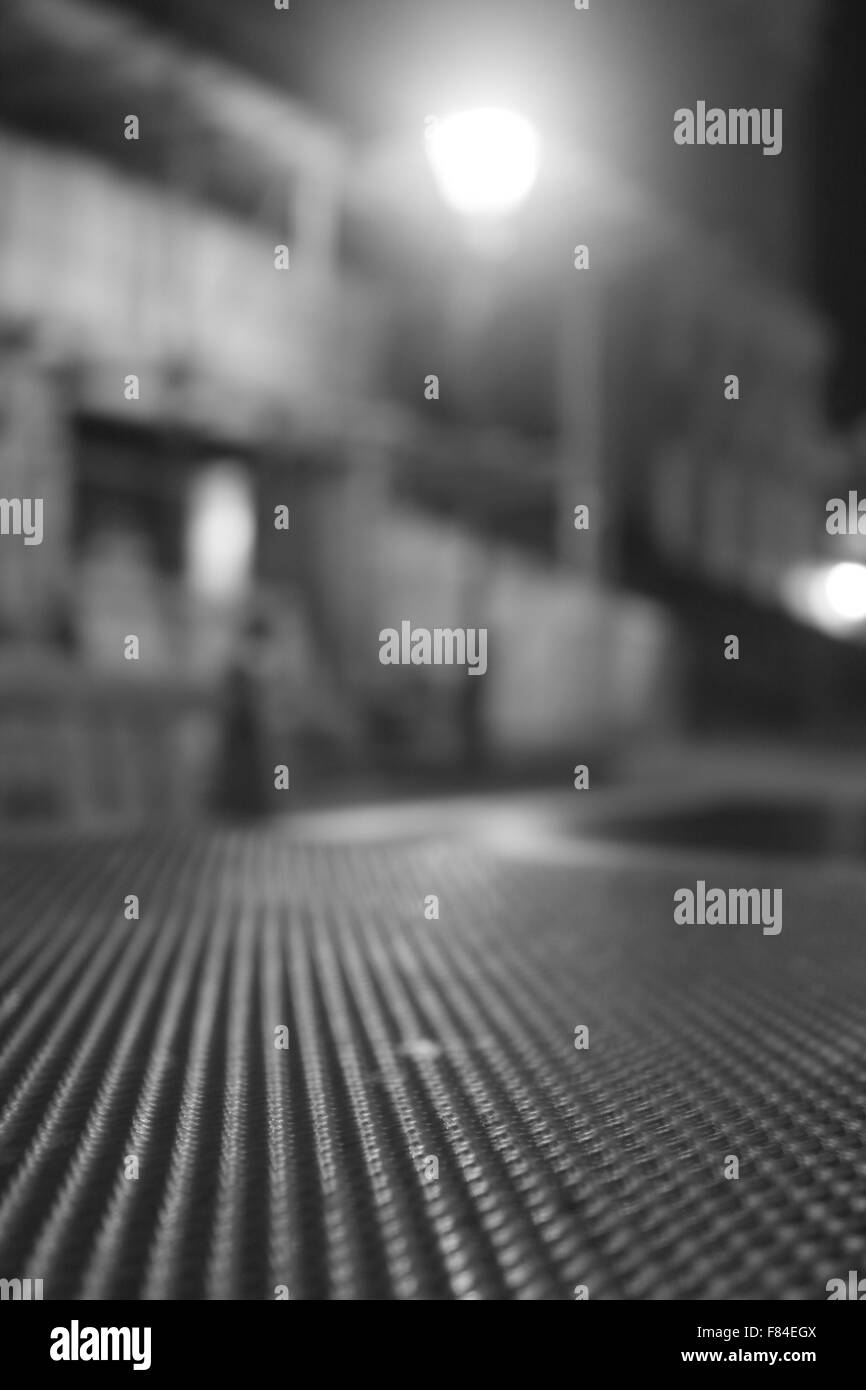 table texture at night - Stock Image